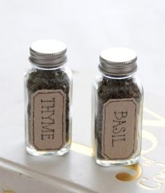 cute way to store spices...