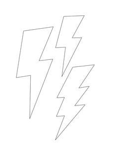 Lightning bolt template small | Diy: Inspirations | Pinterest
