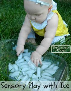 Sensory Play with Ice. Perfect for the hot weather!