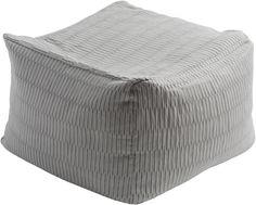Caplin Solid Gray Cube Pouf