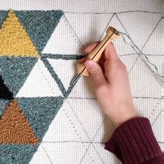 Likes, 37 Comments - Stacie Schaat Rug Hooking Designs, Rug Hooking Patterns, Crochet Patterns, How To Make Punch, Punch Needle Patterns, Wool Thread, Crochet Projects, Hand Knitting, Needlework