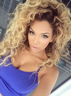 Love this kind of hair Curly Hair Styles, Natural Hair Styles, Weave Hairstyles, Pretty Hairstyles, Hairstyle Men, Funky Hairstyles, Formal Hairstyles, Honey Blond, Beauté Blonde