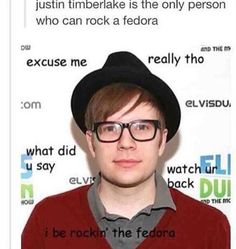 Patrick is the only person who can rock it
