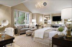 white and beige monochromatic bedroom