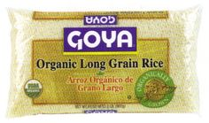 From the rice fields to your mouth, this is the best long grain rice ever..  Organic Long Grain Rice by Goya.