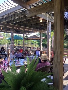Riverfront, A Louisiana Grill, Abbeville, LA Rooftop Dining, Lafayette Louisiana, Travel Usa, New Orleans, Pergola, Cajun Food, The Incredibles, Outdoor Structures, Restaurant
