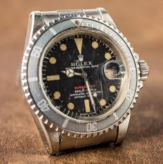 """A Vintage Rolex 'Red Submariner' Watch With An Actual History Of Military Service - by Paul Altieri - Discover the history behind this Sub at: aBlogtoWatch.com - """"As Rolex's most popular line of watches, the Rolex Submariner gets a fair amount of attention – both from contemporary enthusiasts and vintage collectors alike. Despite having a design that has remained largely unchanged since its initial introduction in 1954..."""""""
