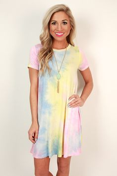 This cheerful dress is a ton of fun and looks great with sandals or sneakers!