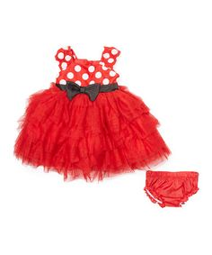 Look what I found on #zulily! Red Minnie Mouse Dress & Bloomers #zulilyfinds