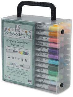 EK Success Writer Dual-Tip Scrapbooking Marker Set, 48 Pack: Arts, Crafts & Sewing Pens And Pencils, Colored Pencils, Office Deco, Cute School Supplies, Copics, Gel Pens, Art Supplies, Scrapbook Supplies, Scrapbooking