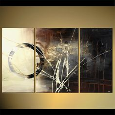 Modern Contemporary Abstract Painting Original Brown Black