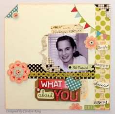 Cute Page using Soft Spoken. About you simple scrapbook layout. Scrapbook Paper Crafts, Scrapbooking Ideas, Scrapbook Layouts, Scrapbook Pages, Scrapbook Storage, Soft Spoken, Smash Book, Giving, Creative Ideas
