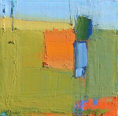 Sandy Ostrau, Field With Orange 6x6