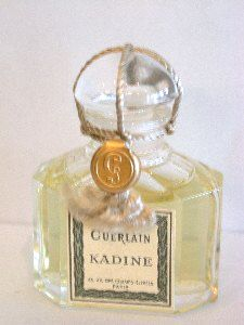Kadine by Guerlain released in 1911. Just recently learned of this one and finding a bottle is very, very rare and if found very, very expensive. One sold at auction a few years ago for $1,136. I would still love to find a drop just to try it. The only description I could find is below...