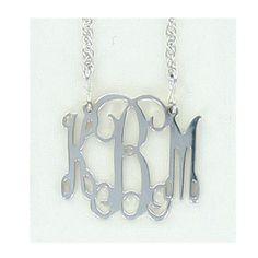 Small Monogram Filigree Necklace Pendant in sterling silver...love!