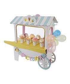 Look at this #zulilyfind! Ice Cream Cart Centerpiece #zulilyfinds