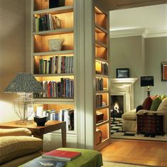 These illuminated bookshelves are the perfect addition to any home library. These illuminated bookshelves are the perfect addition to any home library. European Home Decor, Home Libraries, Interior Decorating, Interior Design, Decorating Ideas, Decor Ideas, Interior Paint, Diy Ideas, Deco Design