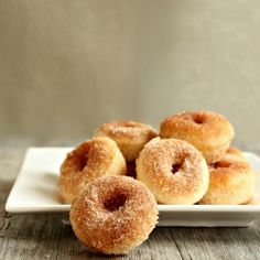 Baked Cinnamon Sugar Mini Doughnuts HealthyAperture.com - I need to make these for Tad sometime