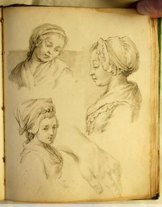 Louis XV Style book of drawings from the mid-18th century - paintings and drawings
