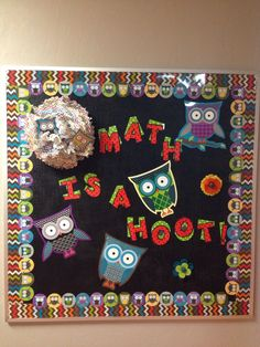 Owl board for back to school!
