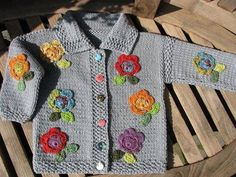 How to tutorial knitting and crochet baby pattern free Baby Knitting Patterns, Knitting For Kids, Crochet For Kids, Baby Patterns, Knit Crochet, Baby Cardigan, Baby Sweaters, Beautiful Crochet, Baby Outfits