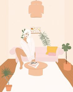 My winter skincare routine consists of Glossier, Fresh and Kiehl's Poster S, Art Graphique, Aesthetic Art, Female Art, Digital Illustration, Art Inspo, Amazing Art, Tarot, Graphic Art