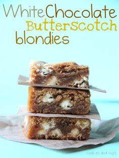 White Chocolate Butterscotch Blondies