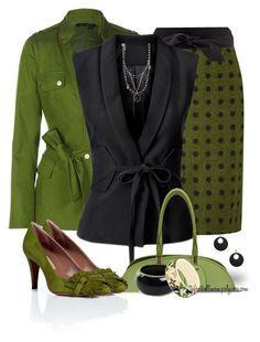 """Black and Green"" by tufootballmom ❤ liked on Polyvore featuring Etcetera, Dickins & Jones, MANGO, H&M, Proenza Schouler, GUESS, Mi Lajki, Louis Vuitton, L'Autre Chose and Jordan Alexander"