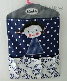 ♥     Dílna Hama    ♥      : Nové kapsáře do školky Young People, Apron, Lunch Box, Sewing, Ideas, Embroidery Dress, Home, Kids Backpacks, Sewing Projects