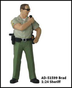 Sheriff Brad Figure For 1:24 Diecast Model Cars