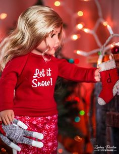 Make holiday pajamas for your American Girl doll with the Piccadilly Pj s 18