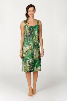 Vestido verano tirantes modelo Polynesia de la firma textil Española Egatex