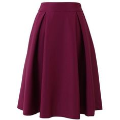 Full A-line Midi Skirt in Violet ❤ liked on Polyvore featuring skirts, dot skirt, midi skirt, a line midi skirt, purple polka dot skirt and mid-calf skirt