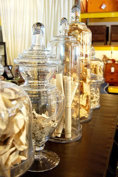Glass Jars and Cloches