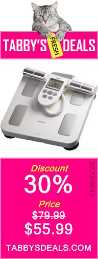 Omron HBF-510W Full Body Composition Monitor with Scale $55.99