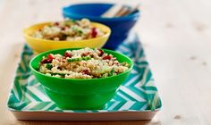 CanolaInfo | Lemon-Cucumber Quinoa | Summer-fresh vegetables, protein-rich quinoa and the light taste of canola oil make this refreshing dish ready for a picnic. Recipe created by America's Nutrition Expert® Mitzi Dulan, R.D.