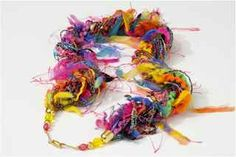 Great accessory which looks like the novelty knitted scarf but is instead in necklace form, so it is not as bulky. All made with novelty, classy yarns to give your outfit a chic yet elegant look.
