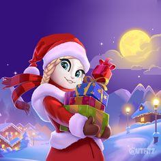I'm prepared!!! My gifts are under control, looking beautiful! xo, Talking Angela #TalkingAngela #TalkingFriends #MyTalkingAngela #Xmas #Christmas #festivetime #festive #magic #LittleKitties #TalkingTom #gifts