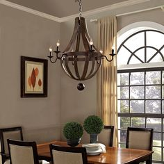 - Ballista Chandelier in Antique Brass