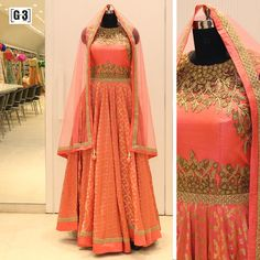 Astonishing Peach Anarkali Suit in Peach and Golden weave, Yoke with gold metal embellishment. . ONLY available at G3 Sutaria Ghoddod Rd Store. To Shop with Live Video Calling Service appointment or For Instant Price and Queries Whatsapp - +91-9913433322 #G3+ #G3+Store #g3 #Sutaria #GhoddodRd #anarkali #anarkalisuit #indianwedding #indianbride #desifashion #bluedress #desiwedding #desi #picoftheday #outfitoftheday #festive #indianbride #indian #couture #indianwedding #indianweddings #hande