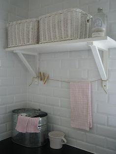 laundry - I like this wall tiles