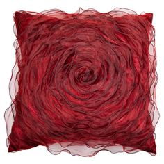 Showcasing a feminine 3-D design and appliqued centre, this sumptuous satin-look cushion is the perfect accessory for your country bedroom or modern living r...