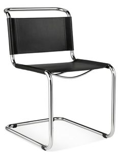 Inspired by the work of Marcel Breuer's iconic design based on bicycle handle bars, the Lange chair is a beautiful combination of chrome-finished steel and top grain leather. Its comfortable, versatile design makes it perfect for the office, dining room or extra seating.