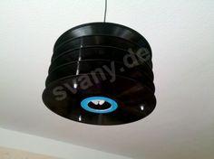 Hängelampen - Schallplatten Lampe, Vinyl Lampe - ein Designerstück von svanywood bei DaWanda