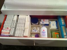 Changing table top drawer organization