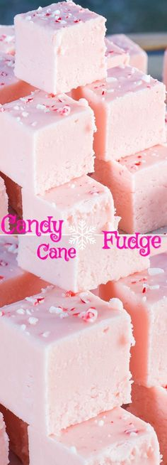 This Candy Cane Fudge recipe is incredible! Creamy, smooth and loaded with candy cane flavour! A must make Holiday Treat. This Candy Cane Fudge recipe is incredible! Creamy, smooth and loaded with candy cane flavour! A must make Holiday Treat. Mini Desserts, Holiday Baking, Christmas Desserts, Delicious Desserts, Ramadan Desserts, Classic Desserts, Christmas Fudge, Christmas Snacks, Christmas Cooking
