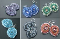 Earrings in the form of leaves Who would have thought that an ordinary weaving leaf to flower bead