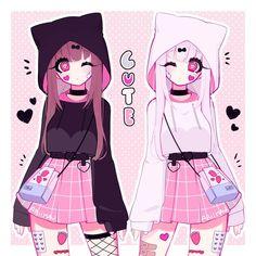 I'm honestly happy I could finally finish this drawing! it's one of my favorite ones so fa. Art Kawaii, Manga Kawaii, Arte Do Kawaii, Cute Anime Chibi, Cute Kawaii Drawings, Anime Girl Cute, Chica Anime Manga, Kawaii Anime Girl, Anime Art Girl