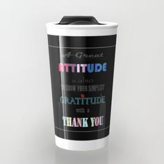 Gratitude ~ Xmas Spirit Quote Travel Mug by weivy Cold Drinks, Beverages, Spirit Quotes, To Spoil, Spoil Yourself, Travel Quotes, Gratitude, Travel Mug, Coffee Mugs