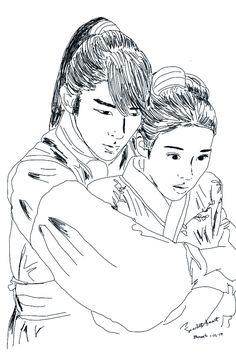 moon lovers scarlet heart ryeo #corelpainter sketch
